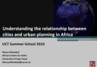 Reflections on Nodal Development Profiles - Vula - University of ...