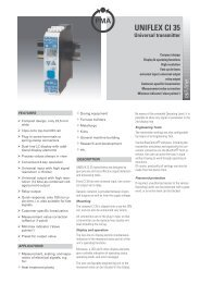 UNIFLEX CI 35 Universal Transmitter - Temp-Press Inc