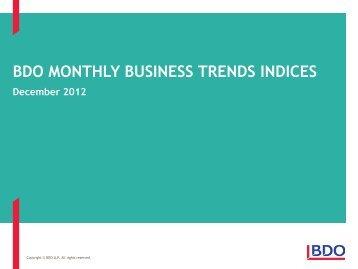 BDO Business Trends - December 2012 - UK.COM