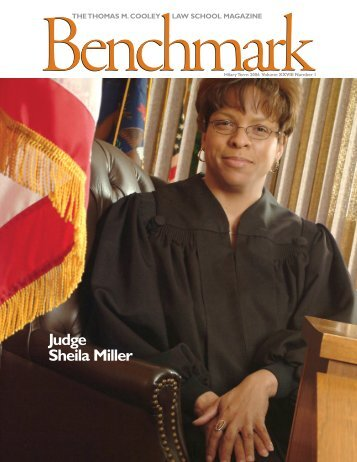 Benchmark - The Thomas M. Cooley Law School Magazine - Hilary ...