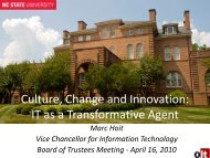 Culture, Change and Innovation IT as a transformative agent