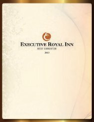 Catering Menu - Executive Hotels and Resorts