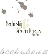 Services Directory Membership - The Association of Book ...