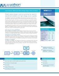 WM8501/22 Product flyer - Wolfson Microelectronics plc