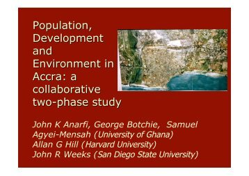 Population, Development and Environment in Accra: a ... - pripode