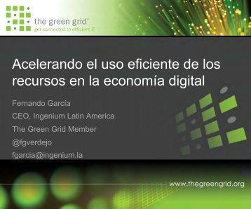 Green Grid, Fernando Garcia, Ingenium (.pdf ... - Schneider Electric