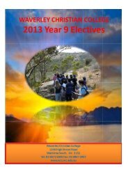 Year 9 Electives Booklet 2013