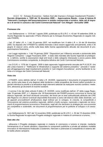 Il bando per i Centri Commerciali Naturali - Comune di Napoli