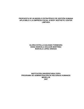 propuesta de un modelo estratégico de gestión humana aplicable a ...