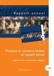 Brochure Rapport Annuel F - Fedweb