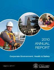 Corporate Environment, Health & Safety Report 2010 - Calgary Transit