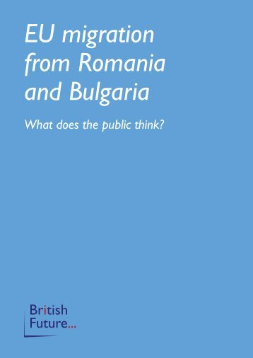 EU migration from Romania and Bulgaria - Social Welfare Portal