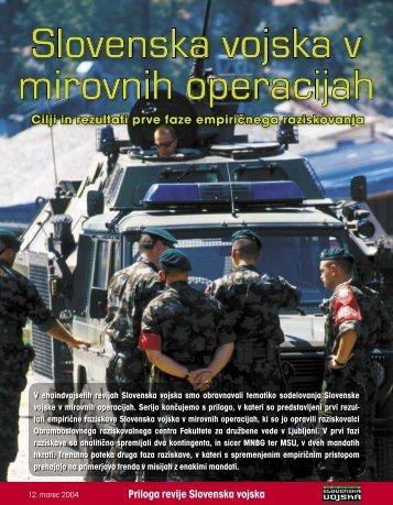 Slovenska vojska v mirovnih operacijah - Ministrstvo za obrambo