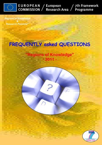 Frequently Asked Questions (pdf) - Seventh EU Framework ...