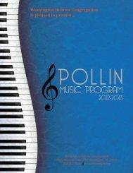 The Abe and Irene Pollin Music Program Initiative - Washington ...