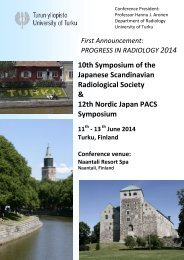 First announcement as PDF - Japanese Scandinavian Radiological ...