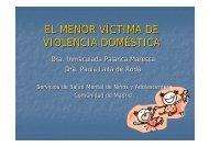 EL MENOR VÍCTIMA DE VIOLENCIA DOMÉSTICA