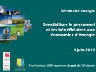 Présentation de Jacques Claessens et du Facilitateur URE - unipso
