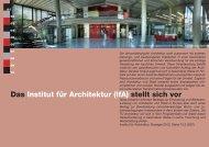 Das Institut für Architektur (IfA) stellt sich vor - Architektur TU Berlin