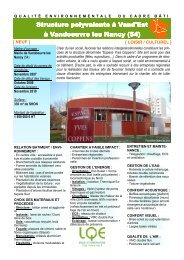 Salle Polyvalente à Vandoeuvre-les-Nancy - LQE
