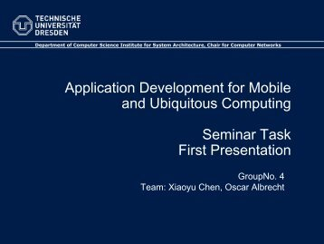 Application Development for Mobile and Ubiquitous Computing ...