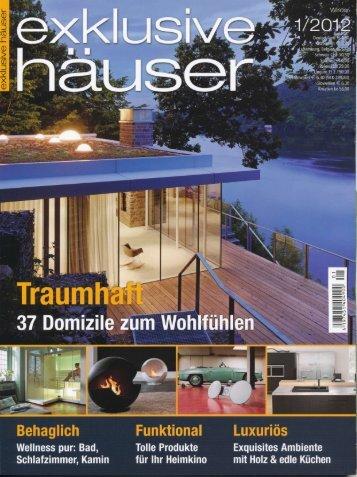 """""""Exklusive Häuser"""" bringt in der Ausgabe 01/2012 unsere"""