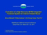 Evaluation of a High Recovery NF/RO Integrated Treatment System ...