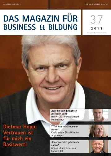 Das Magazin für - Buhr & Team Akademie für Führung und Vertrieb
