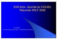 Résumé SRLF 2006 - COLMU
