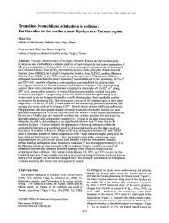 Transition from oblique subduction to collision: Earthquakes in the ...