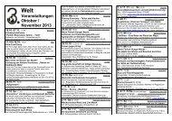 Veranstaltungen Oktober / November 2013 - Dritte Welt Forum in ...