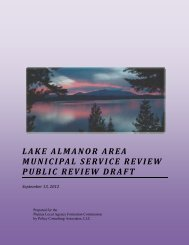 Almanor Recreation and Park District - calafco
