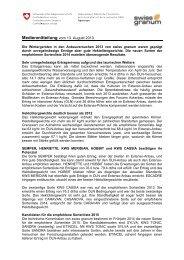 Medienmitteilung vom 13. August 2013 - swiss granum