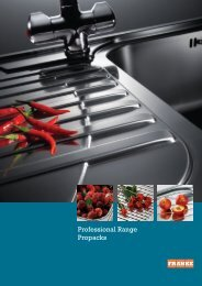 Professional Range Propacks brochure - TFK - TransForm Kitchens