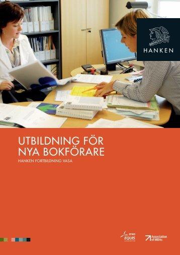 UTBILDNING FÖR NYA BOKFÖRARE - Svenska handelshögskolan