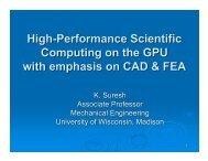 High-Performance Scientific Computing on the GPU with ... - SERC