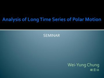 Analysis of Long Time Series of Polar Motion