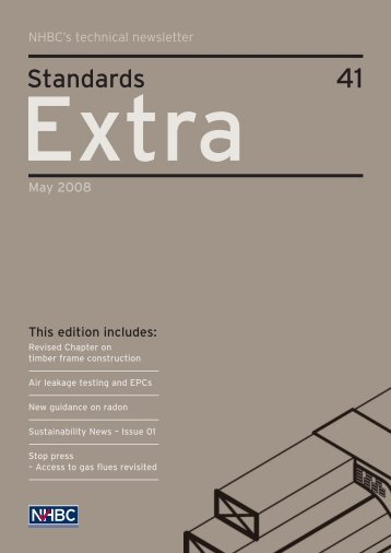 NHBC Standards Extra - Issue 41 - May 2008 - NHBC Home