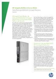 HP Integrity BL860c i2 Server-Blade Datenblatt