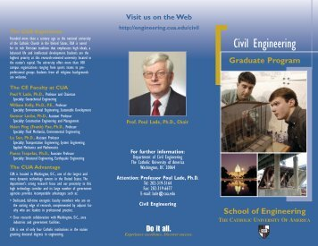 Graduate Civil Engineering Brochure - the School of Engineering ...
