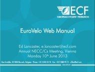 EuroVelo Web Manual Presentation