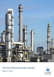 The Gulf Petrochemicals Industry - Alpen Capital