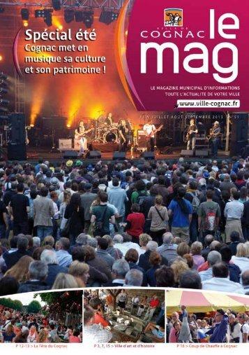 Cognac Mag 51 été 2013 - Ville de Cognac