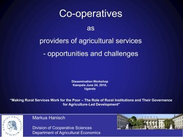 Cooperatives as providers of agricultural services - Uganda Strategy ...