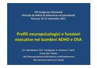 Profili neuropsicologici e funzioni esecutive nei bambini ... - Aidai