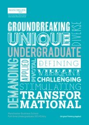 GROUNDBREAKING - Manchester Business School