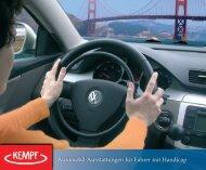 Automobil-Ausstattungen für Fahrer mit Handicap - Kempf