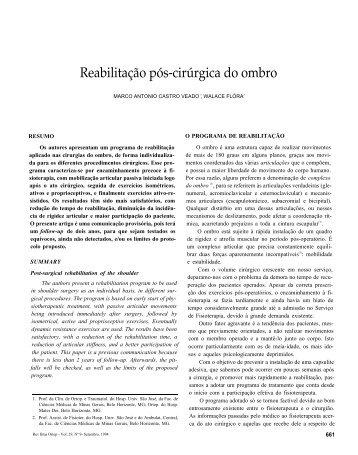 Reabilitação pós-cirúrgica do ombro - Portal Saude Brasil . com
