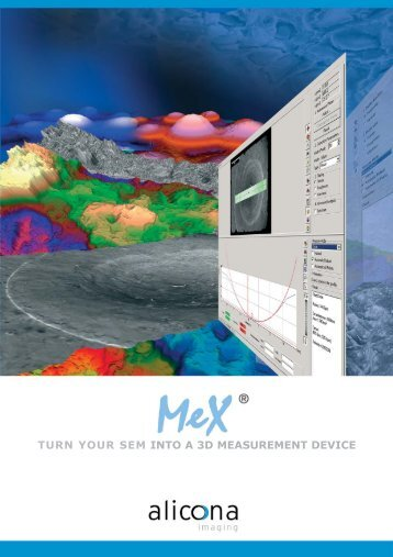 MeX: Turn Your SEM into a 3D Measurement Device (.pdf)