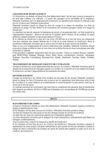 ASSISTANCE CIRRUS - CIC